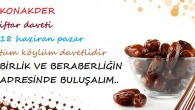 KONAKDER İFTAR DAVETİ